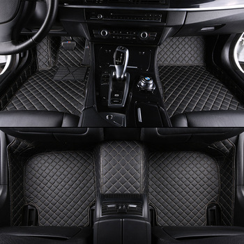 kalaisike Custom car floor mats for Land Rover All Models Range Evoque Sport Freelander Discovery 3 4  styling