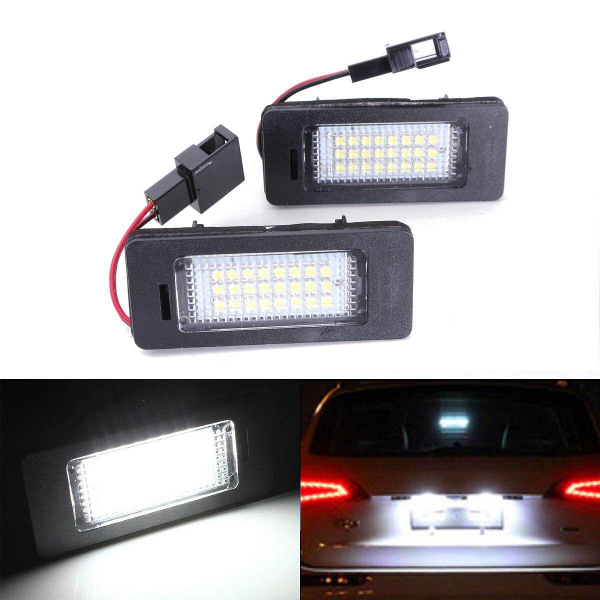 2x LED Plaque D'immatriculation De Voiture Lumière 12V SMD3528 Pour Audi A4 B8 A5 Q5 S5 TT A1 S4 A6 A7 2008-2013 Sans erreur