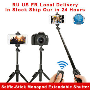 Bluetooth Selfie Monopod Stick Dslr-Tripod Gopro Smartphone Wireless Extendable for 11