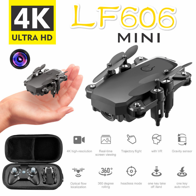 Mini Drone With 4K Camera HD Foldable Drones One-Key Return FPV Quadcopter Follow Me RC Helicopter Quadcopter Kids Toys