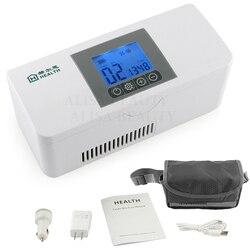 2018 saco refrigerador de armazenamento de insulina portátil diabético caixa de refrigerador de insulina recarregável geladeira mini caixa de gelo saco de viagem