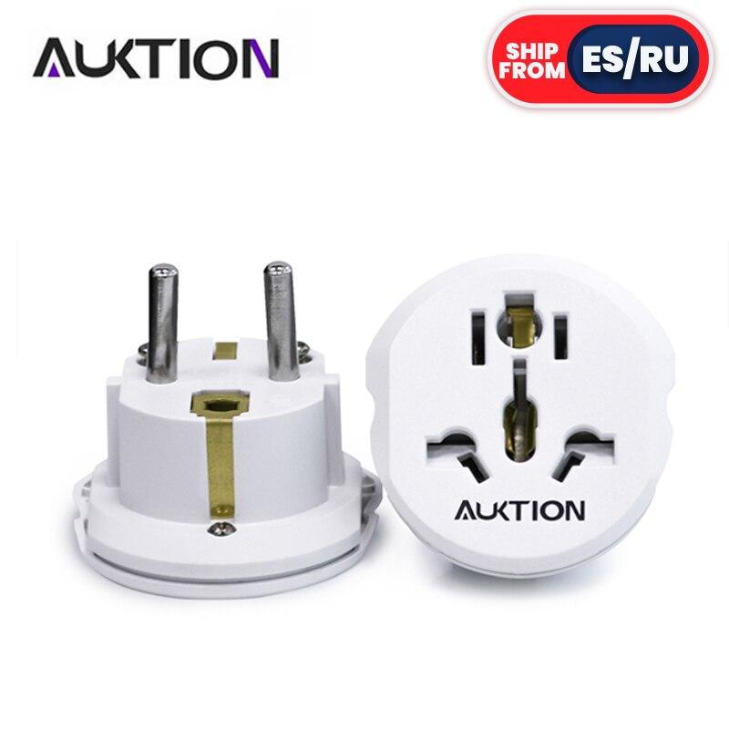 AUKTION 5pcs/Lot Universal EU Plug Adapter 16A Electrical Plugs International Power Socket Converter AC 250V for Travel Tool