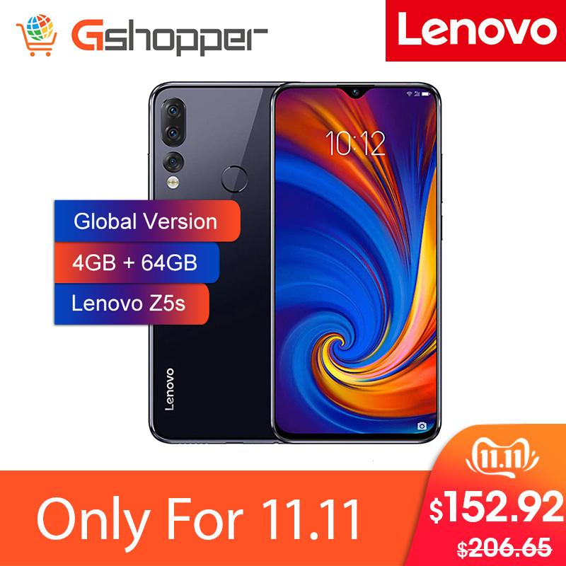 Global Version Lenovo Smart Phone Z5S 4GB 64GB Octa-core Snapdragon 710 AI Triple Rear Cameras ZUI 10.0 4G FDD LTE Android P