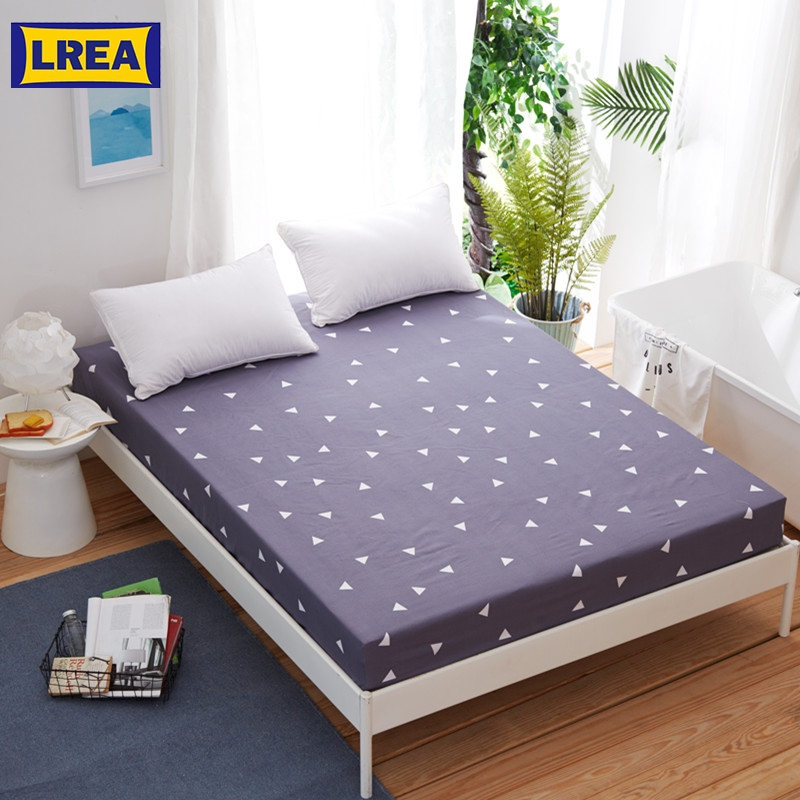 LREA 1pc Sheet Polyester And Cotton Material Home Textile Clad Sheets Soft For Bedding 25cm Height