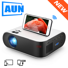 AUN MINI Projector W18C, 2800 Lumens, 854*480P, Wireless Sync Display For Phone,