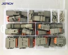 202 adet Deutsch DTM su geçirmez tel bağlayıcı Kiti DTM06 2/3/4/6/8/12 S DTM04 2/ 3/4/6/8/12P Otomotiv Mühürlü Fiş pimleri ile