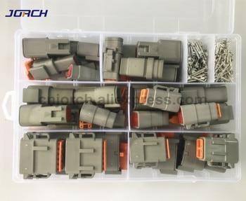 202 stücke Deutsch DTM Wasserdichte Draht Connector Kit DTM06-2/3/4/6/8/12 S DTM04-2/3/4/6/8/12 P Automotive Versiegelt Stecker mit pins