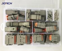 202pcs Deutsch DTM Connettore del Cavo Impermeabile Kit DTM06 2/3/4/6/8/12 S DTM04 2/3/4/6/8/12 P Automotive Sealed Plug con perni