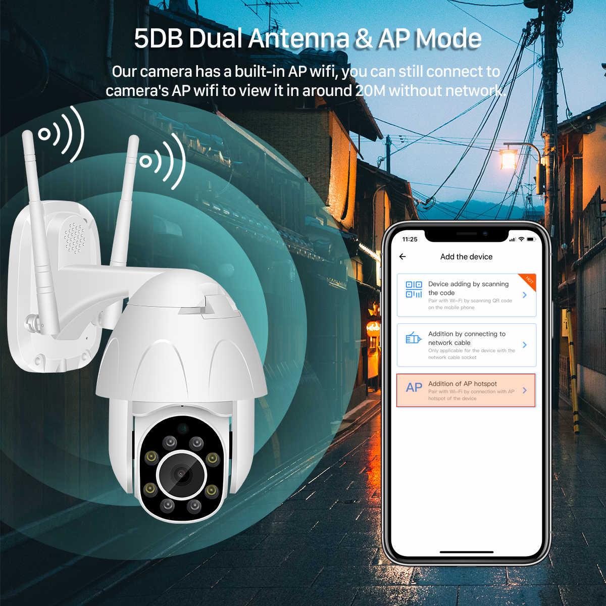 Neng 1080P PTZ Camera IP Ngoài Trời Tốc Độ Dome Wifi Camera An Ninh Chảo Nghiêng Mạng CAMERA QUAN SÁT Nhà Surveilance Chống Thấm Nước