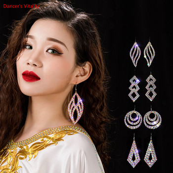 Wholesale Womens Jewelry Stunning Crystal Rhinestone Earrings Sparkling Belly Dance Gypsy Dangle 2 Pairs/Pack - discount item  45% OFF Stage & Dance Wear