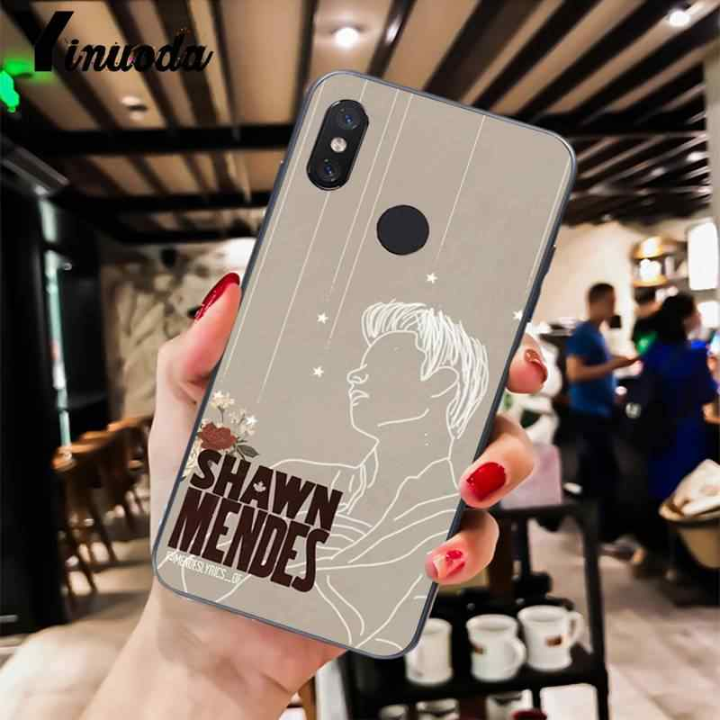 Yinuoda Hit Pop Singer Shawn Mendes Dalam Darah Saya Hitam Soft Tpu Ponsel Cover untuk Xiaomi 6 MIX2 8SE K20 redmi 5A NOTE4X 7 6A Cover