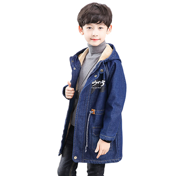 2019 winter boy windbreaker children cotton down jacket hooded thick teenager boy coat casual outwear kids clothes