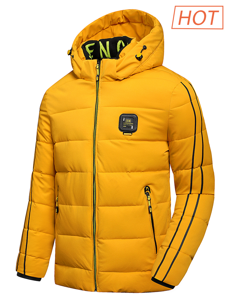 Luulla Hooded Jacket Outfit Coat Men Warm Autumn Waterproof Thick Winter Outwear New
