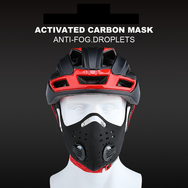 X-TIGER Facemask PM 2.5 Anti-Pollution Bike Face Mask Activated Carbon Breathing Valve Cycling Mask With Filter 1