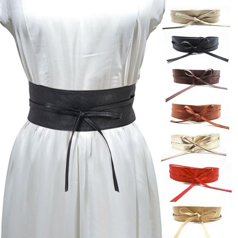 Women Faux Leather Corset Wide Belt