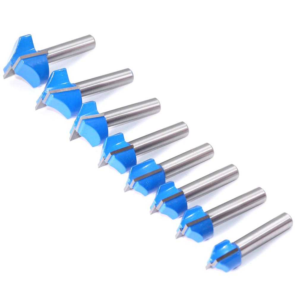 4pcs 5pcs 8mm Cleaning bottom Engraving Bit solid carbide router bit 10,15,22,30mm Diameter CNC milling cutter endmill for wood