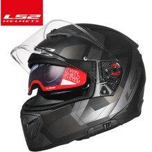 LS2 выключатель moto rcycle шлем moto LS2 FF390 хром полный лицо двойной объектив модульные Шлемы casco с бесплатной Pinlock