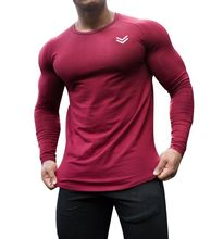 Training Laufen T Hemd Männer Workout Bodybuilding Tops Neue Langarm T Shirt Sport Männer Gym Quick Dry Fitness kompression