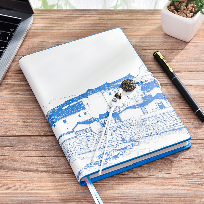 Chinese Style Notebook Simple Business A5 Thicken Literary Exquisite Vintage Notebook 1PCS