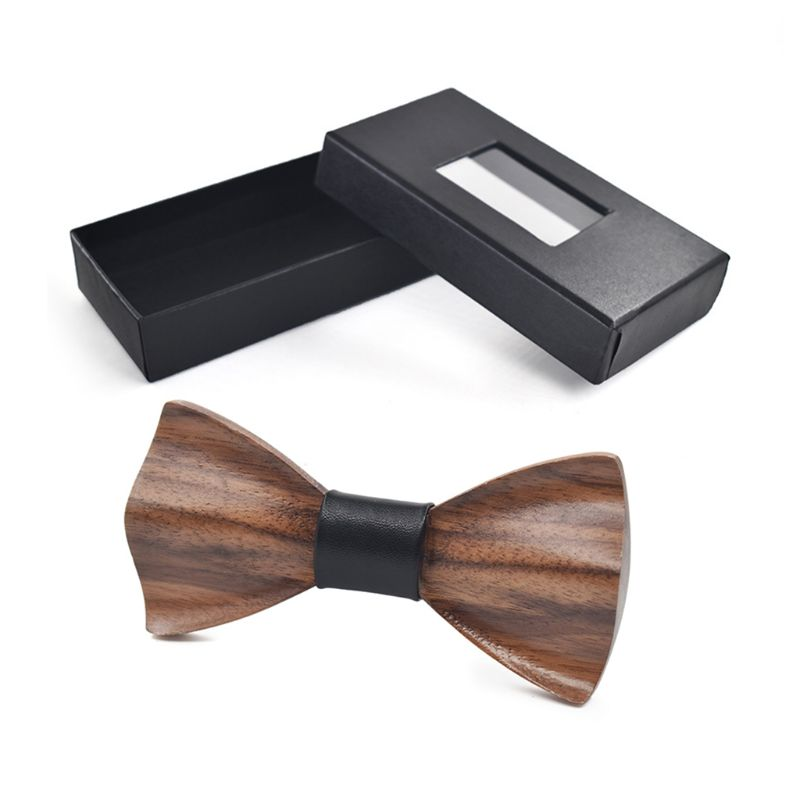 Hight Quality 3D Solid Wooden Bowtie Men Male Fashion Wedding Party Wooden Bow Tie Decor Accessories
