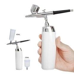 Draadloze Airbrush Kit Met Oplaadbare Airbrush Compressor Grote Capaciteit Inkt Cup Spray Pen Voor Make-Up, Nail Art, verf, Cake Maken