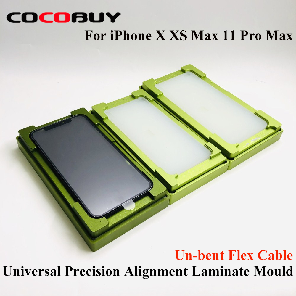 Universal Precision Un bent Alignment Laminating Moulds for iphone X XS Max 11 Pro Max LCD Glass OCA Polarizer film laminating|Power Tool Sets| |  - title=