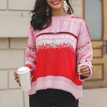 2019 Winter Women Sweaters Christmas Sweater Pullover Cardigan Casual Plush Sweater Knitted Jumper Clothes Female Loose Top sweaters modis m182w00296 jumper sweater clothes apparel pullover for female for woman tmallfs