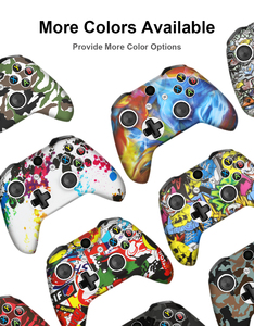 Image 2 - For Xbox One Slim Joystick Soft Silicone Protective Controller Cover for XBox One X S Camouflage Cover Grips Caps
