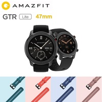 On Sale Global Version Amazfit GTR Lite 47mm Smart Watch Swimproof AMOLED Screen 24 Days Battery For Xiaomi Android IOS Phone