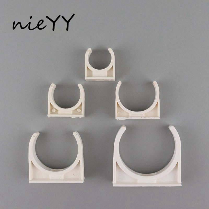 10Pcs 20Mm 25Mm 32Mm 40Mm 50Mm PVC Pipe Support Water Supply Clamps Connector Garden Irrigation System Fittings