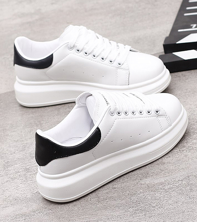Platform White Sneakers Women Autumn Winter Flat Leather Casual Shoes Ladies Classic Women Vulcanize Shoes Zapatos Mujer VT252
