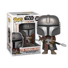 FUNKO POP Star Wars figuras de acción 326 mandaloriano figuras de acción estatuilla de Bobble Head juguetes de modelos coleccionables para los Fans de regalo
