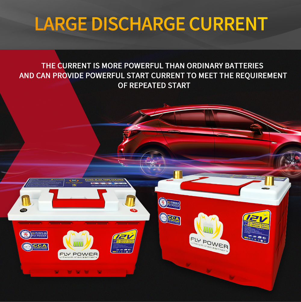 12V LiFePO4 Car Start Battery 20Ah-80Ah 240-960Wh CCA 680A-2300A With BMS 12V Lithium Batteries For Car RV Golf Cart Boat Solar(China)