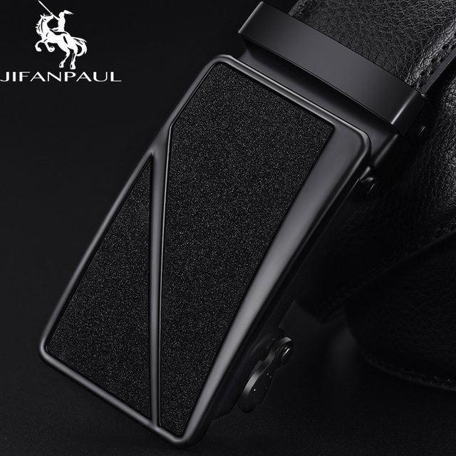 Leather genuine black fashion alloy luxury belt 3