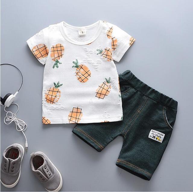 Boys Clothing Sets (T- Shirt,Pants 2 Pcs Casual Sport Suits)