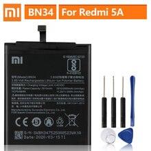 Оригинальный запасной аккумулятор для Xiaomi Mi Redmi 5A Redrice 5A BN34, оригинальный аккумулятор для телефона 3000 мАч