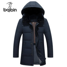 New 2019 Men's Down Jacket Hooded Warm Winter Jacket Thick Business Casual Snow Men Parka Outerwear #516(China)