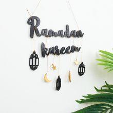 2021 Eid Mubarak Ramadan Kareen Decor Maan En Ster Alfabet Hanger Houten Ambachtelijke Voor Thuis Deur Opknoping Decor