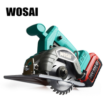 цена на WOSAI 20V Brushless Circular Saw Power Tools Saw Blades 110mm Blade for Wood Circular Saw High Power and Cutting Machine