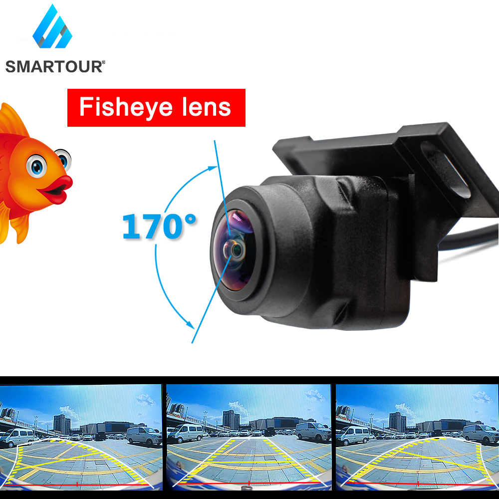 Smartour HD 1920 1080P Night Vision 170 Fisheye Lens Vehicle Reverse Backup Dynamic Rear View Camera Universal Track camera