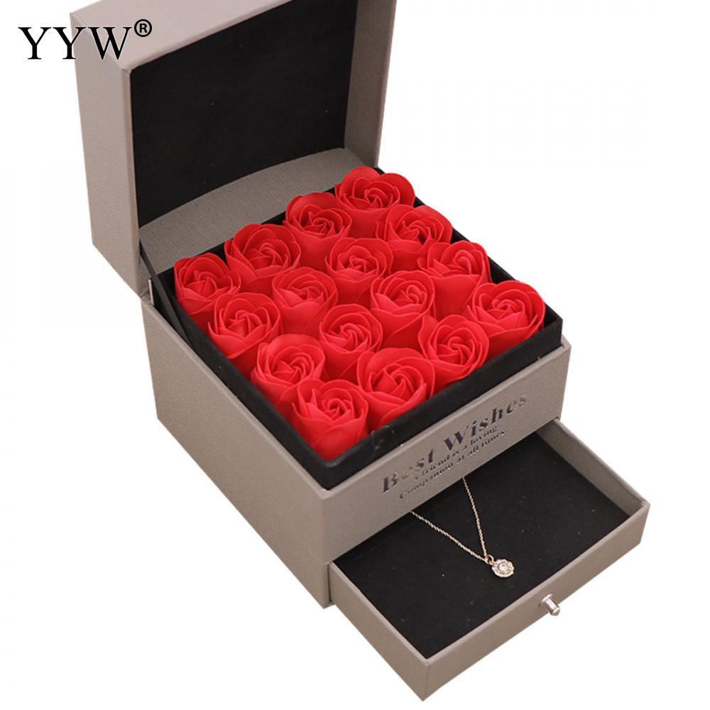 Fête mariage faveurs Regalos Souvenirs saint valentin savon Rose cadeau boîte cadeaux de mariage pour invités bijoux boîte cadeau pour petite amie