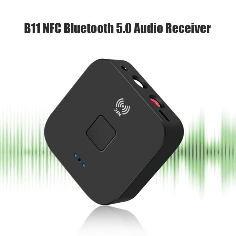 Nfc Bluetooth 5 0 Music Receiver 3 5mm Aux Rca Jack Hifi Wireless Adapter Hands Free Auto On Off Car Audio Receiver Wireless Adapter Aliexpress