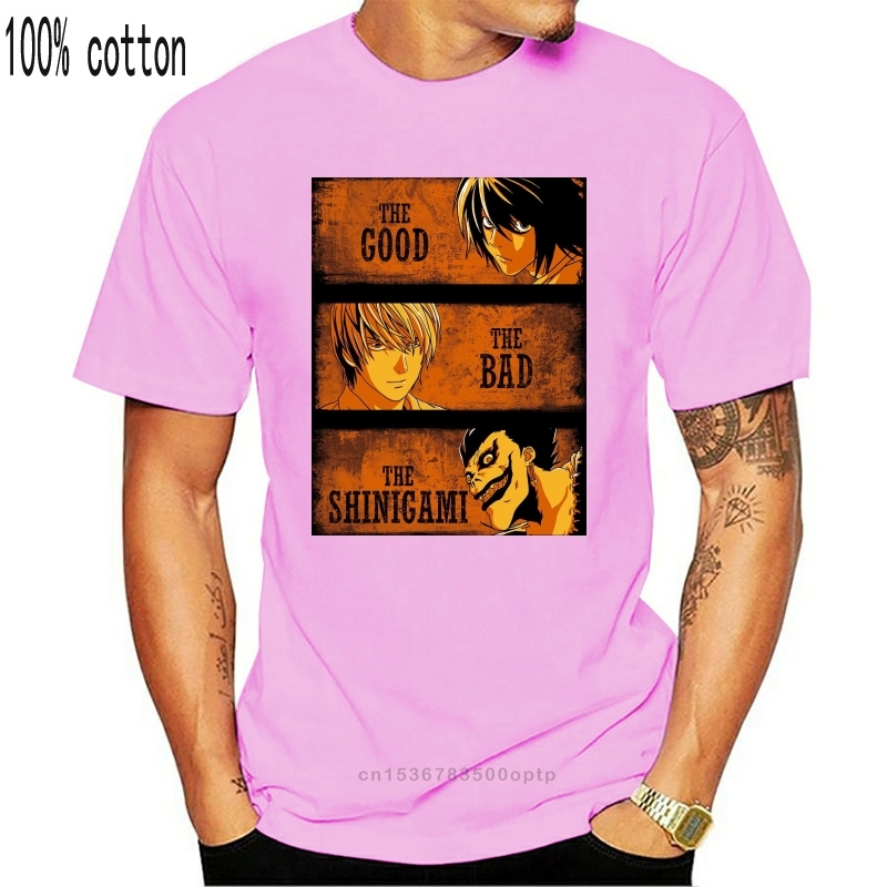 Мужская футболка Death Note The Good The Bad and The Shinigami, новая мужская футболка, модная популярная Стильная мужская футболка, дизайнерская футболка