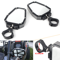 2pcs Universal UTV Offroad Reaview Side Mirrors Rear View Mirror 1.75 Roll Bar Clamp For Polaris RZR 1000 XP Arctic Cat