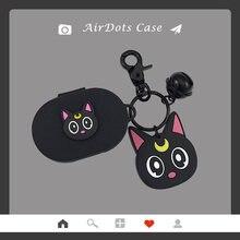 Чехол для наушников с мультяшным котом брелок xiaomi redmi airdots