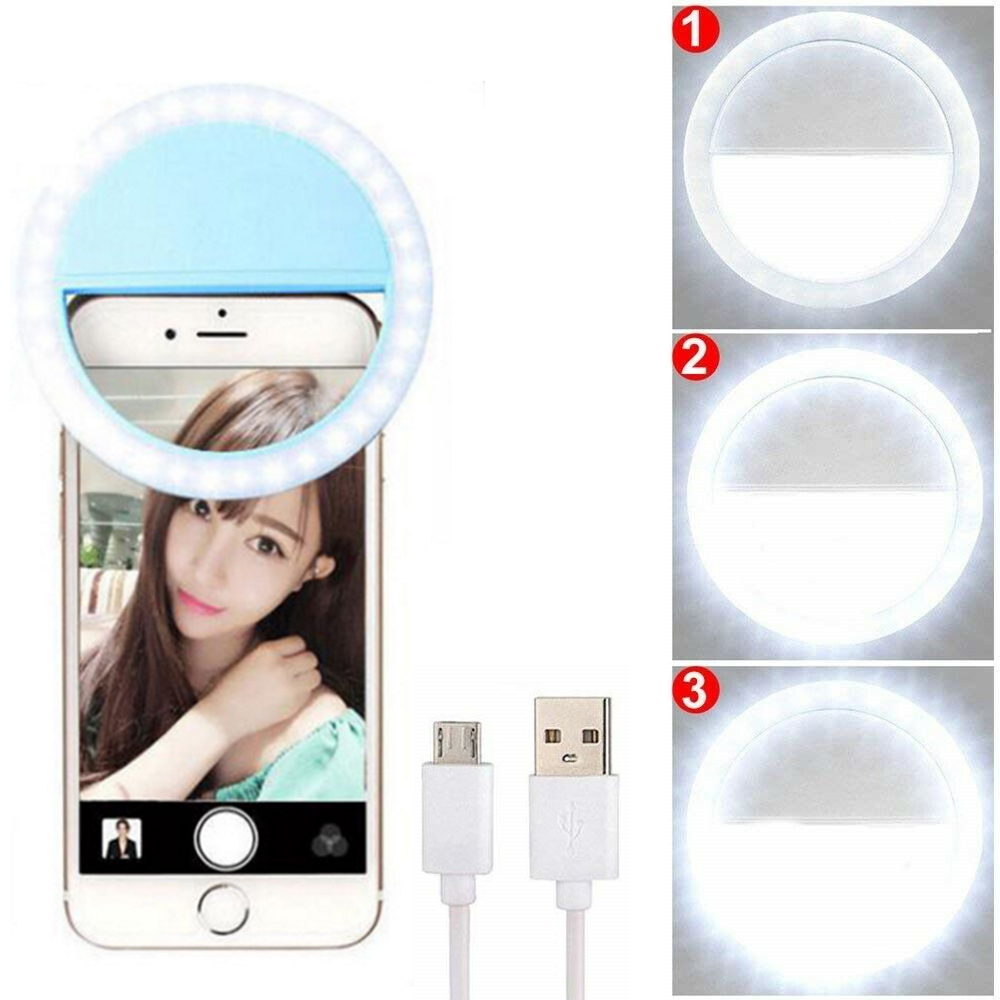 LED Portable Photography Flash Light USB Charge Selfie Led Camera Phone Photography Ring Light For IPhone Smartphone