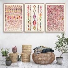 В богемном стиле Арт плакат розовый абстрактных геометрических