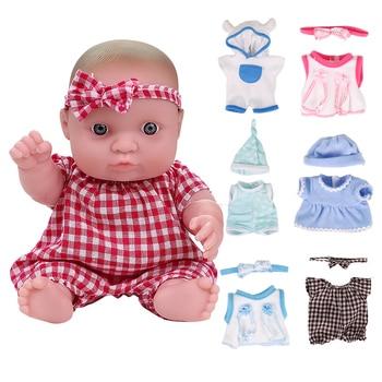 цена на 8 inch Reborn Baby Doll Toy Full Silicone Lifelike Baby Doll Newborn Princess Toy For Kids Christmas Birthday Gift