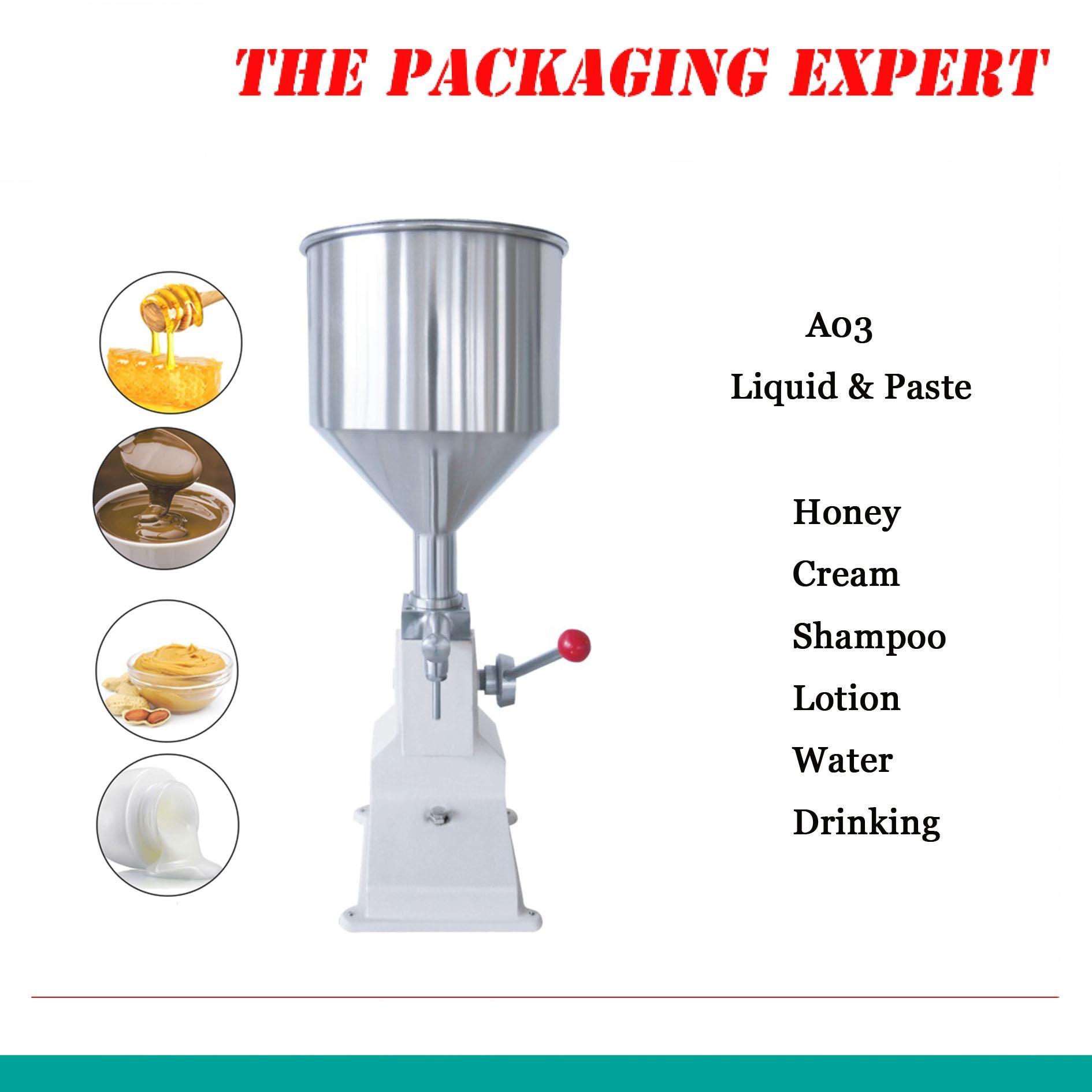 A03 Manual Filling Machine Manual Nail Polish Shampoo Filling Machine 5~50ml For Cream Shampoo Cosmetic Liquid Paste Oil Filler