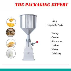 A03 manual filling machine Manual Nail Polish Shampoo Filling Machine 5~50ml for Cream Shampoo Cosmetic Liquid Paste Oil Filler